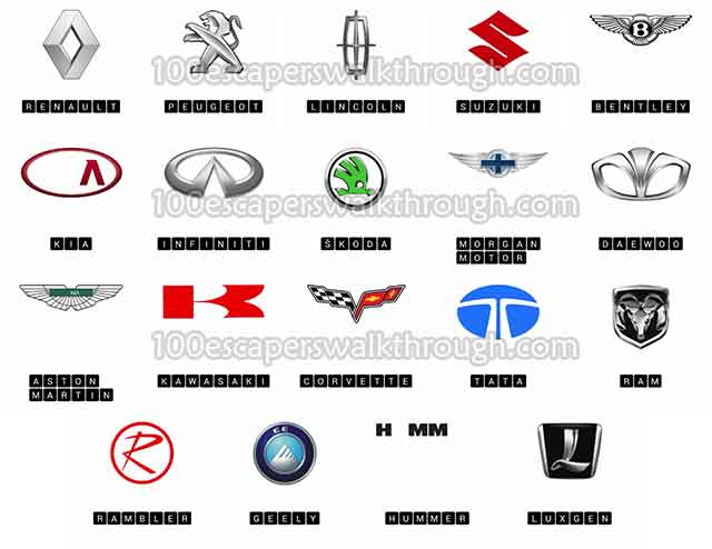 Logo Quiz Cars Level 3 Answers | 94% Game Answers for 100 ...