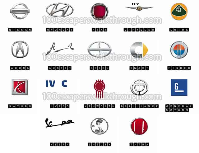 logo quiz cars level 5 answers 94 game answers for 100