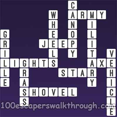 One Clue Crossword Jeep Car Answers | 94% Game Answers for 100 ...