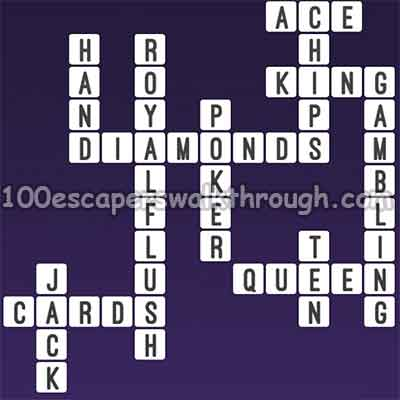 Poker crossword clue how much win per street bet for roulette