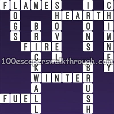 One Clue Crossword Fireplace Chimney Answers 94 Game Answers For 100 Escapers Walkthrough Solution