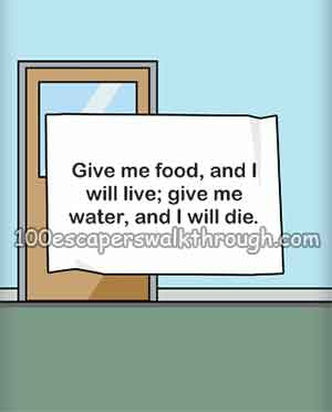 escape-room-give-me-food-and-i-will-live-give-me-water-and-i-will-die
